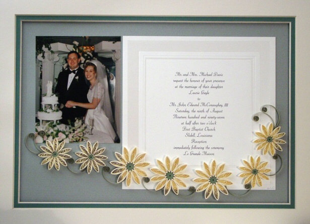 Quilled Wedding Photo And Invitation Keepsake Gallery