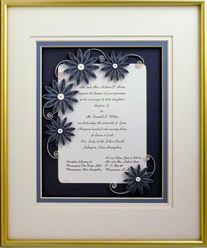 Wedding Keepsake Quilling by Sandra White