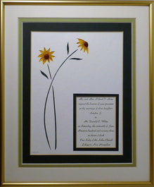 Quilled Sunflower Keepsake